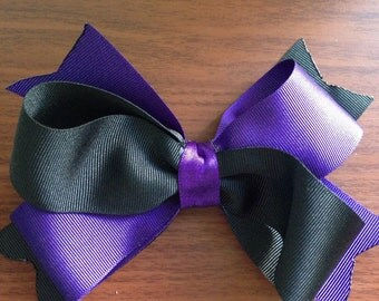 Large double hair bow
