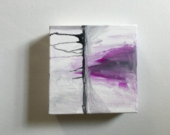 6x6 abstract acrylic canvas painting