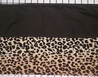 Leopard print Make up Brush roll