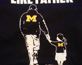 Like Father Like Daughter Block M T shirts