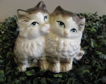 Tabby Kitty Cats Collectible / Made in Japan / Nippon Porcelain Cats / Clover Mark / Cute Kittens Collectible / Best Friends