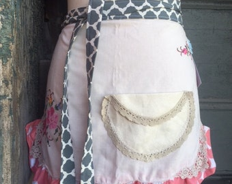 up cycled linen apron