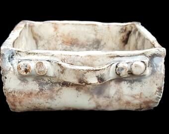 Hand made ornamental ceramic box