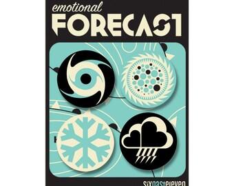 Emotional Forecast Badge Set