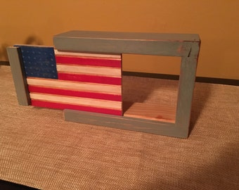 Thermostat Cover - American Flag- Vintage Wall Decor - Nest Thermostat Cover - Red White and Blue
