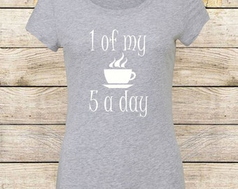 5 a day t shirt / Ladies / Fashion t shirt