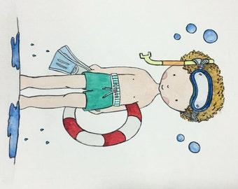 Handmade Children Watercolor Illustrations