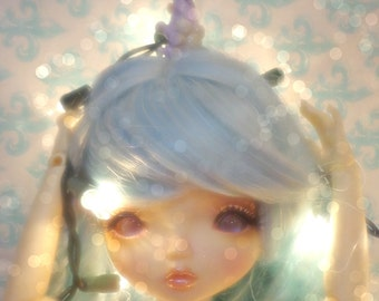 Lilac Magnetic Unicorn Horn For Bjd