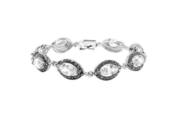 925 Sterling Silver Marcasite Bracelet