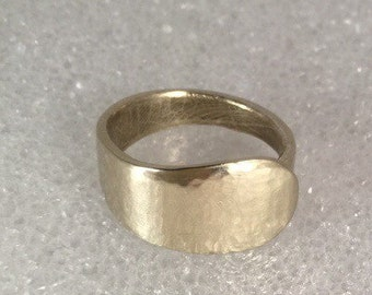 Spoon handle ring nickle silver