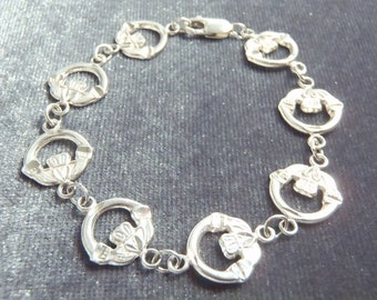 Sterling Silver Claddagh Bracelet RB12