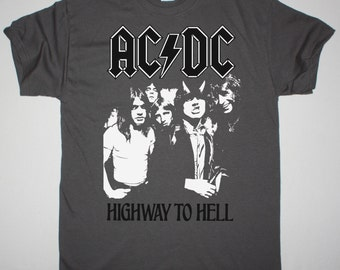 AC/DC Highway To Hell grey t shirt