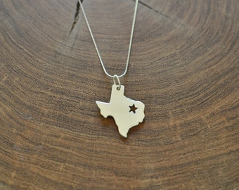 Sale 25% off -- Texas charm necklace, sterling silver 925