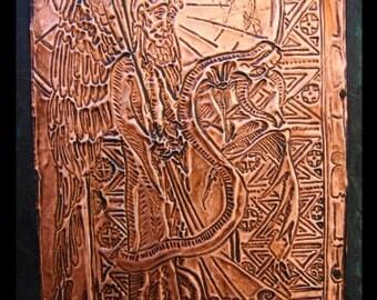 Engraving on copper Saint Michel