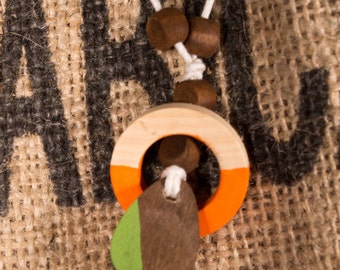Africa inspired wooden necklace