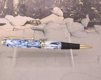 The Seascape Series. Recycled plastics turned pen. Made in Cornwall. Gift, Christmas, Birthday, Anniversary.