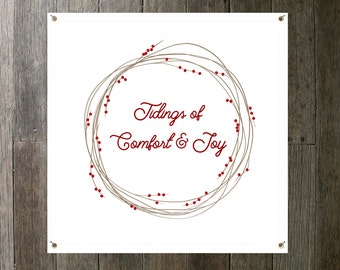 Tidings of Comfort and Joy Christmas Winter Banner