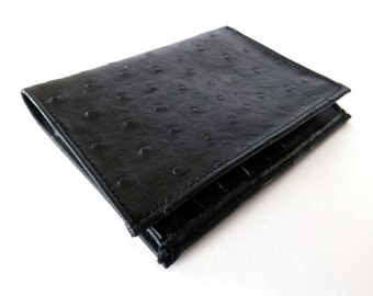 Mens Black Croc Skin Leather Wallet