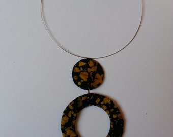 Golden Yellow Printed Necklace