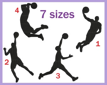 Basketball Players - Designs for Embroidery Machine Digital Graphic Design File Stitch Instant Download Commercial Use game dunk 187e