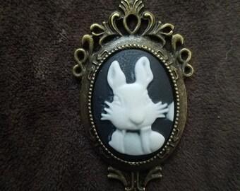 Alice in Wonderland white rabbit neckalce