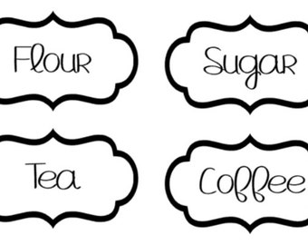 Custom Simple Kitchen Labels