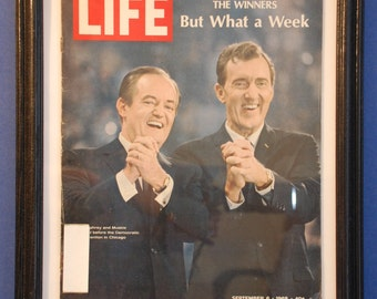 Framed Vintage Life Magazine - September 6, 1968