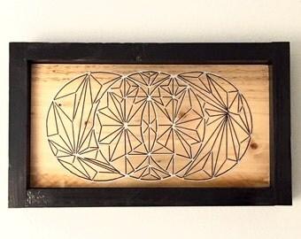Geometric Wood Wall Art, Reclaimed Wood wall art, geometric circles, modern art, abstract art, boho decor, boho art, geometric wall art