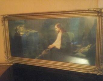 items similar  original black velvet painting jesus