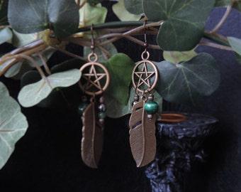 Green magic earrings