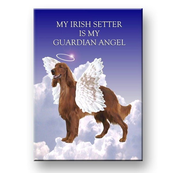 Irish Setter Guardian Angel Pet Loss Fridge Magnet