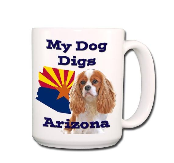 Cavalier King Charles Spaniel Digs Arizona Large 15 oz Coffee Mug No 2