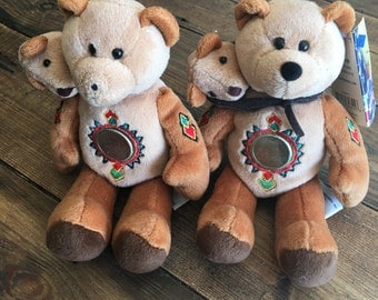 Limited Treasures State Coin Bears/Sacajawea & Pomp Collectible Stuffed Animals/Vintage Collectibles/Children's Stuffed Animals/Rare Coins