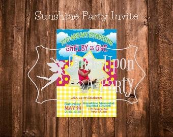 Sunshine Party Invite