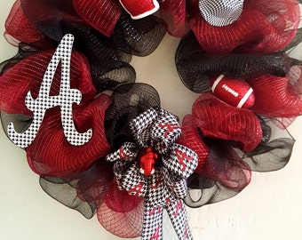Alabama Crimson Tide Handmade Wreath
