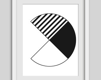 Minimalist Print, Circle Art, Geometric Black and White, Geometric Print, Circle Print, Minimalist Art, Abstract Minimalist, Black and White