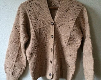 SPRING CLEANING SALE! 50% off! Vintage hand made knitted granny square cardigan
