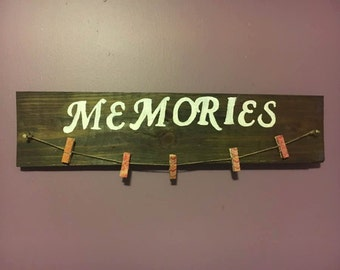 Memories Board With Clothes Hangers Picture Display