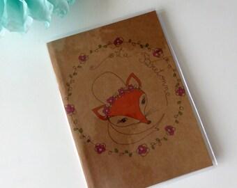 "Illustrated book kraft papers ""Breton"""