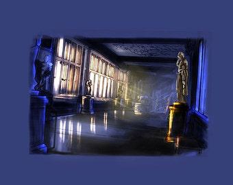 Museum Illustration Digital Download