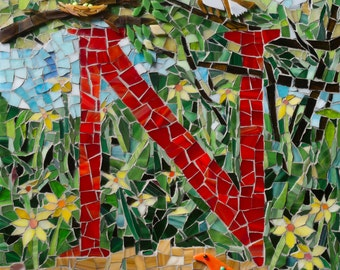 Letter N ~ from My Mosaic Alphabet Book
