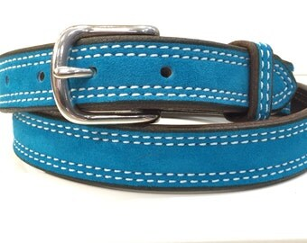 Turquoise Suede Belt, Turquoise Leather Belt,Turquoise Belt,Blue Suede Belt,Blue Leather Belt,Blue Belt,Womans Belt,Suede Belt,Leather Belt