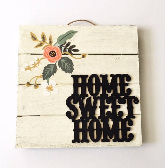 Home sweet home sign wood sign rustic wood home decor - Home sweet home decorative accessories ...