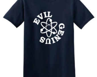 Buddstar Mens Navy Evil Genius T-shirt