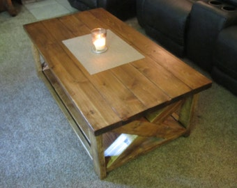 Hand Crafted Rustic Living Room Table - Cedar/Doug Furniture