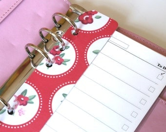 Personal Sized Page Marker | Red Floral