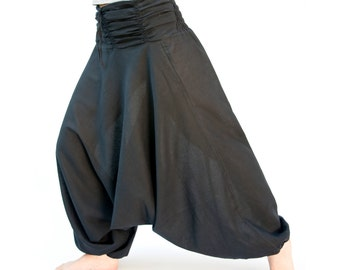 Cotton, Unisex Black harem Pant