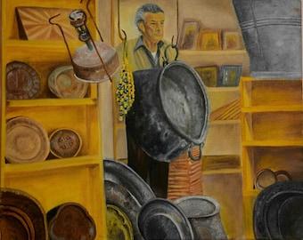Nazareth market painting