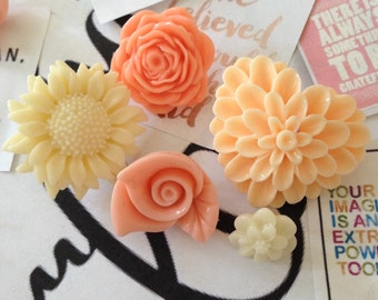Resin flower push pins