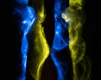 Double Silhouette, Light Painting Photography